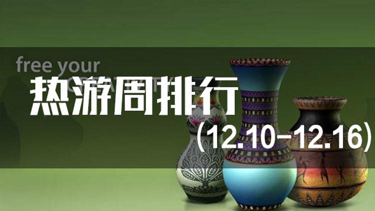 一周热游排行(12.10-12.16)